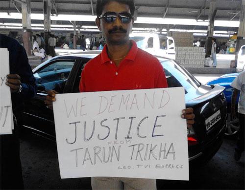 protestor-arrest-tarun-trikha-tvi-express-ceo