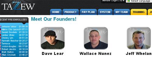 dave-lear-wallace-nunez-jeff-whelan-tazew-founders