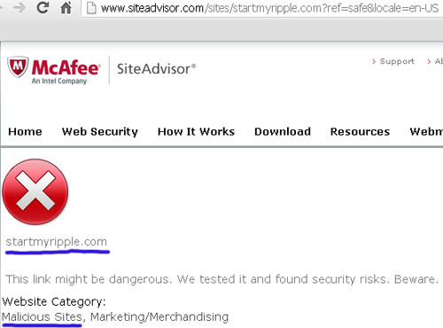 security-warning-rippln-mcafee-site-advisor