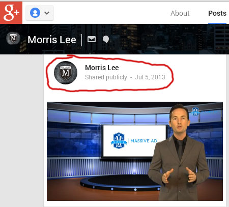 morris-lee-massive-ad-marketing-video-google-plus