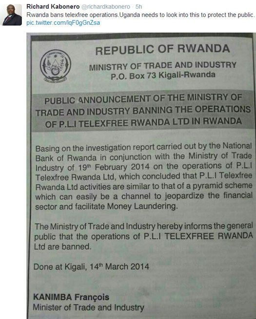 richard-kabonero-telexfree-banned-in-rwanda-tweet