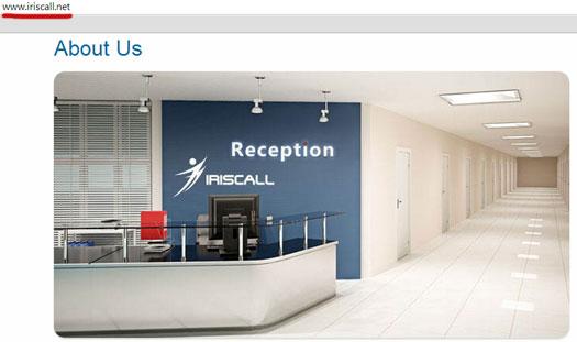 fake-office-iriscall-website