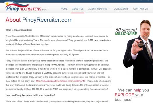 pinoy-recruiters-tracy-davison-60-second-millionaire-secrets