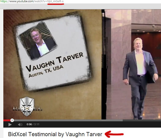 vaugn-tarver-bidxcel-video-youtube