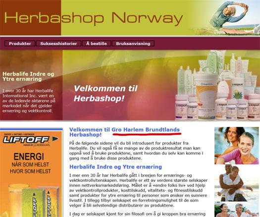 gro-harlem-brundtland-herbashop-norway-website-herbalife