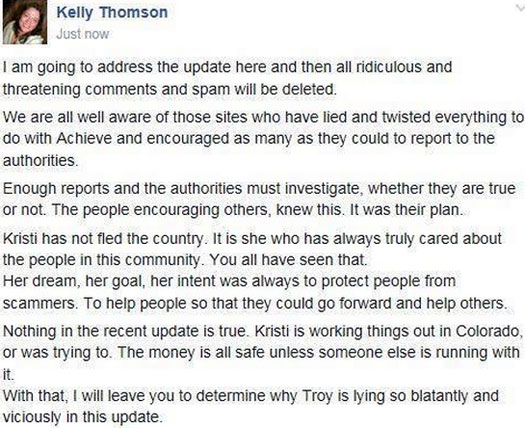 kelly-thomson-denial-update-facebook-achieve-community