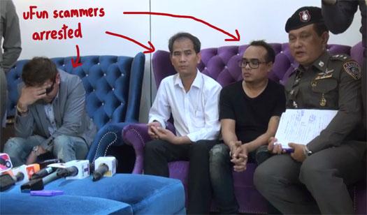 ufun-club-utoken-scammers-arrested-thailand