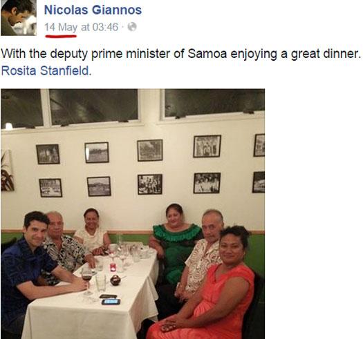 dinner-nicolas-giannos-deputy-prime-minister-samoa-ufun-club-may-2015