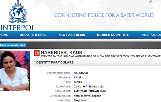 interpol-most-wanted-notice-harendar-kaur-april-2015