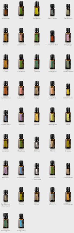 Doterra single essential oils