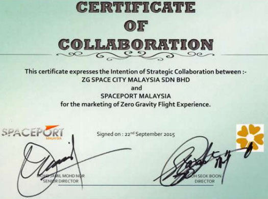 certificate-of-collaboration-spaceport-malaysia-ZG-group