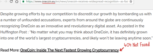 onecoin-link-huffington-post-spam-404-not-found