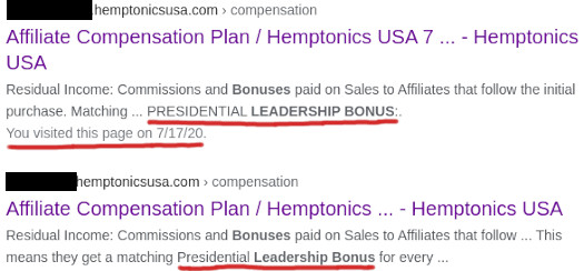 deleted bonuses hemptonics usa website